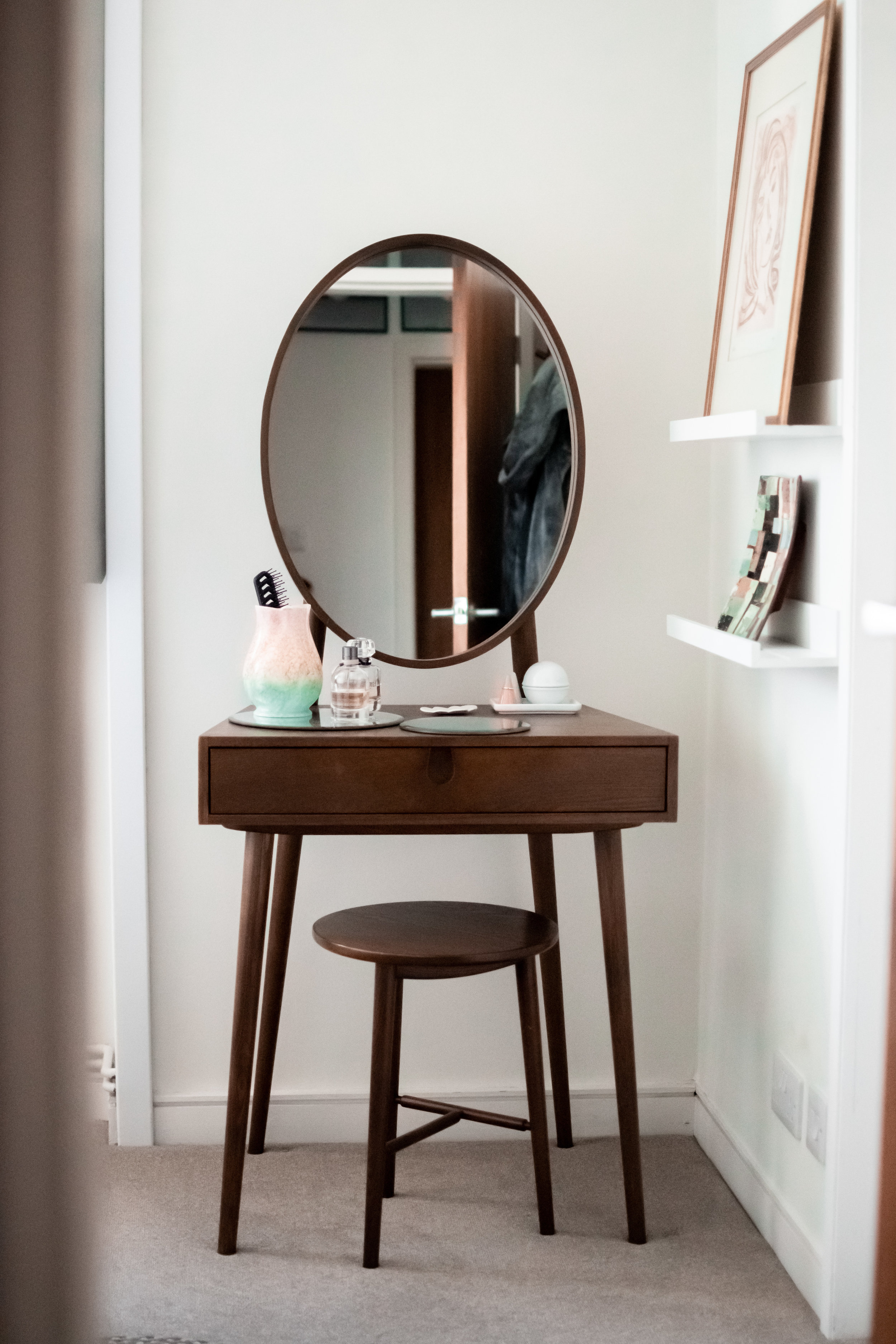Dressing table in mid-century style