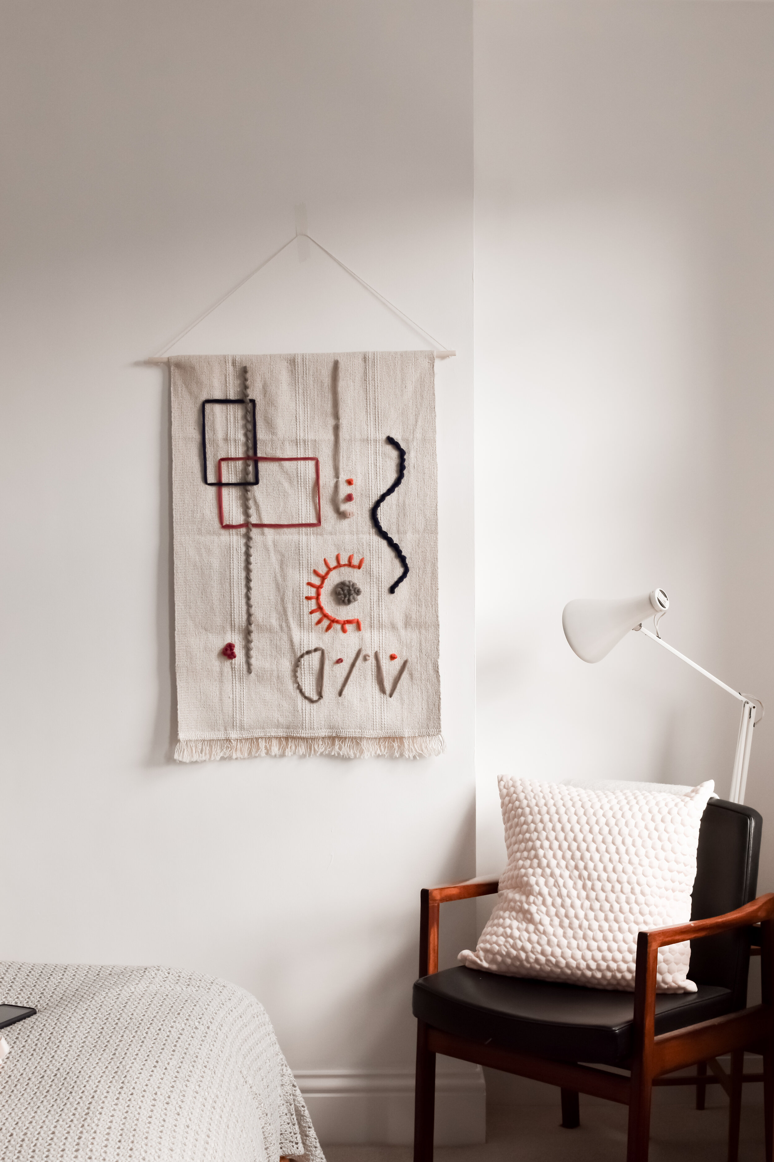IKEA Sortso rug hack tapestry style wall hanging