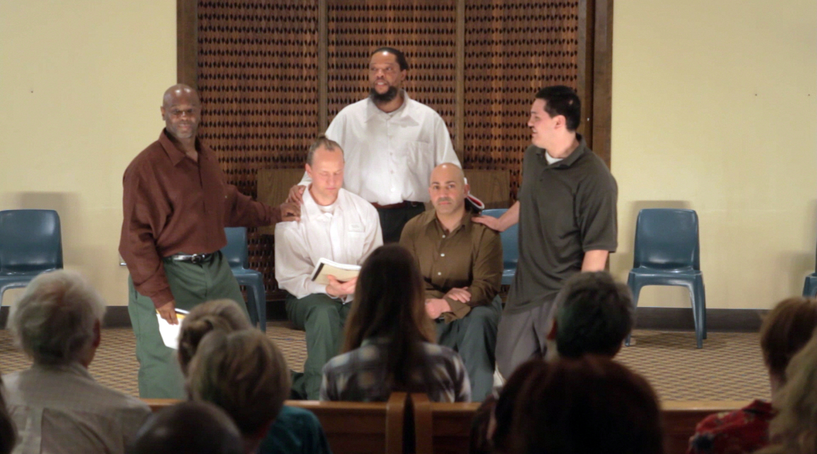 The opening moment of the Phoenix Players Theatre Group 2012 performance  Maximum Will .