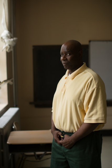 Michael Rhynes, an inmate and a founder of a theater group at Attica Correctional Facility. Credit: Mike Bradley for The New York Times
