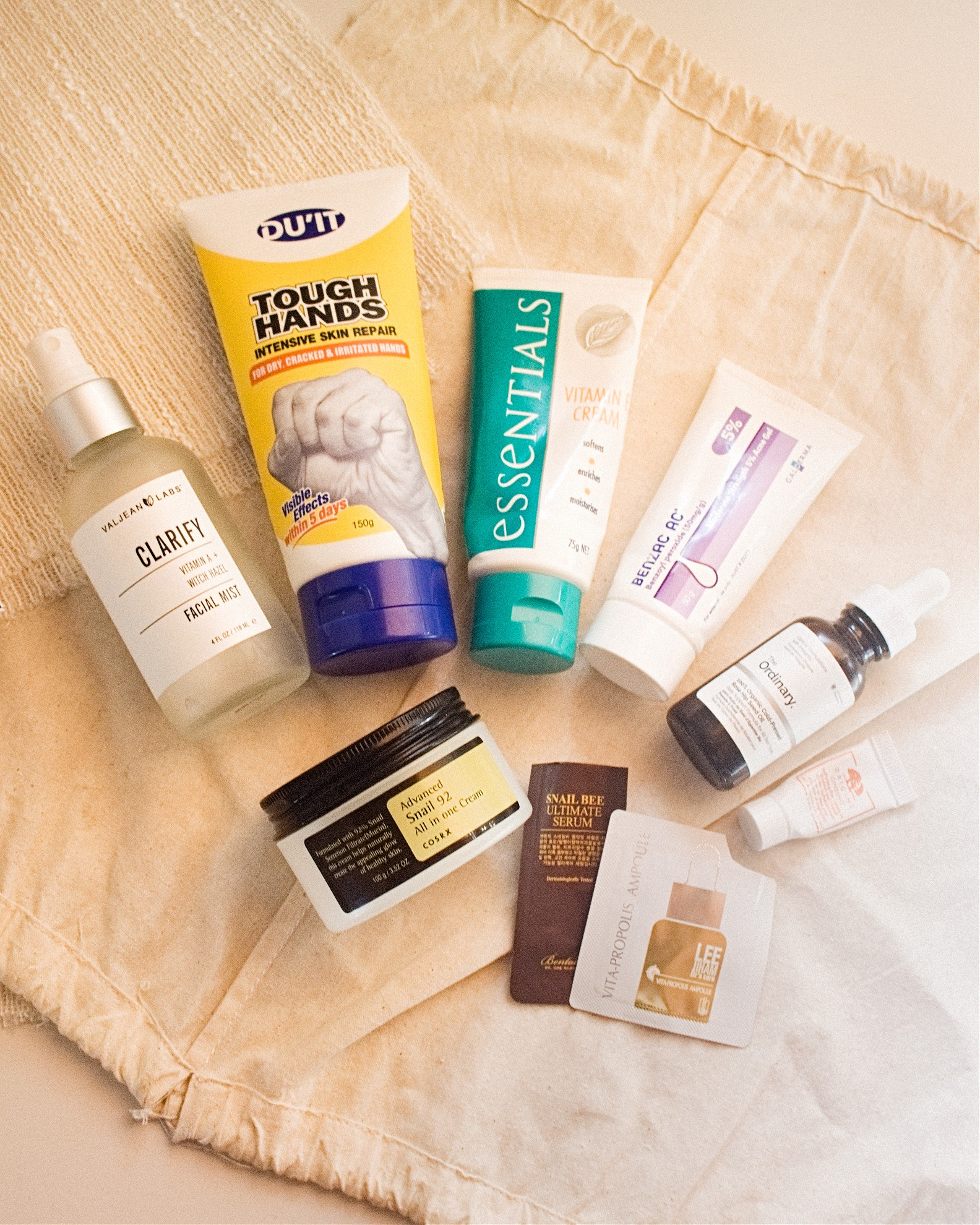 skincare products review empties