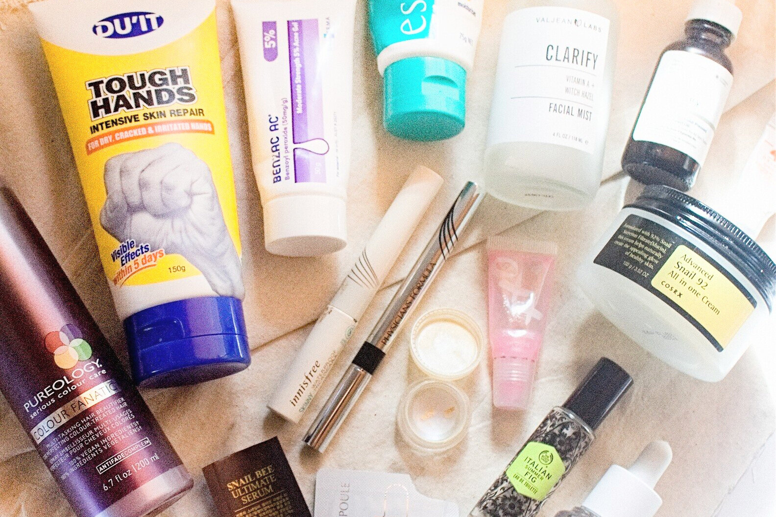 skincare+makeup+beauty+haircare+fragrance+empties
