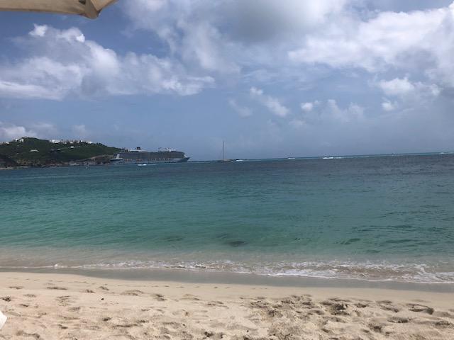 Relaxing on the beach in St. Maarten