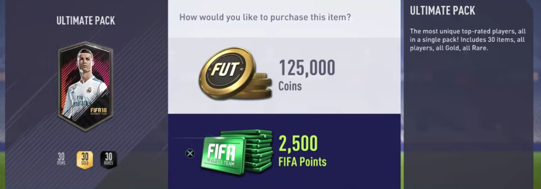 The lottery of FIFA's 'packs' supposedly offer a fast-track path to elite players.