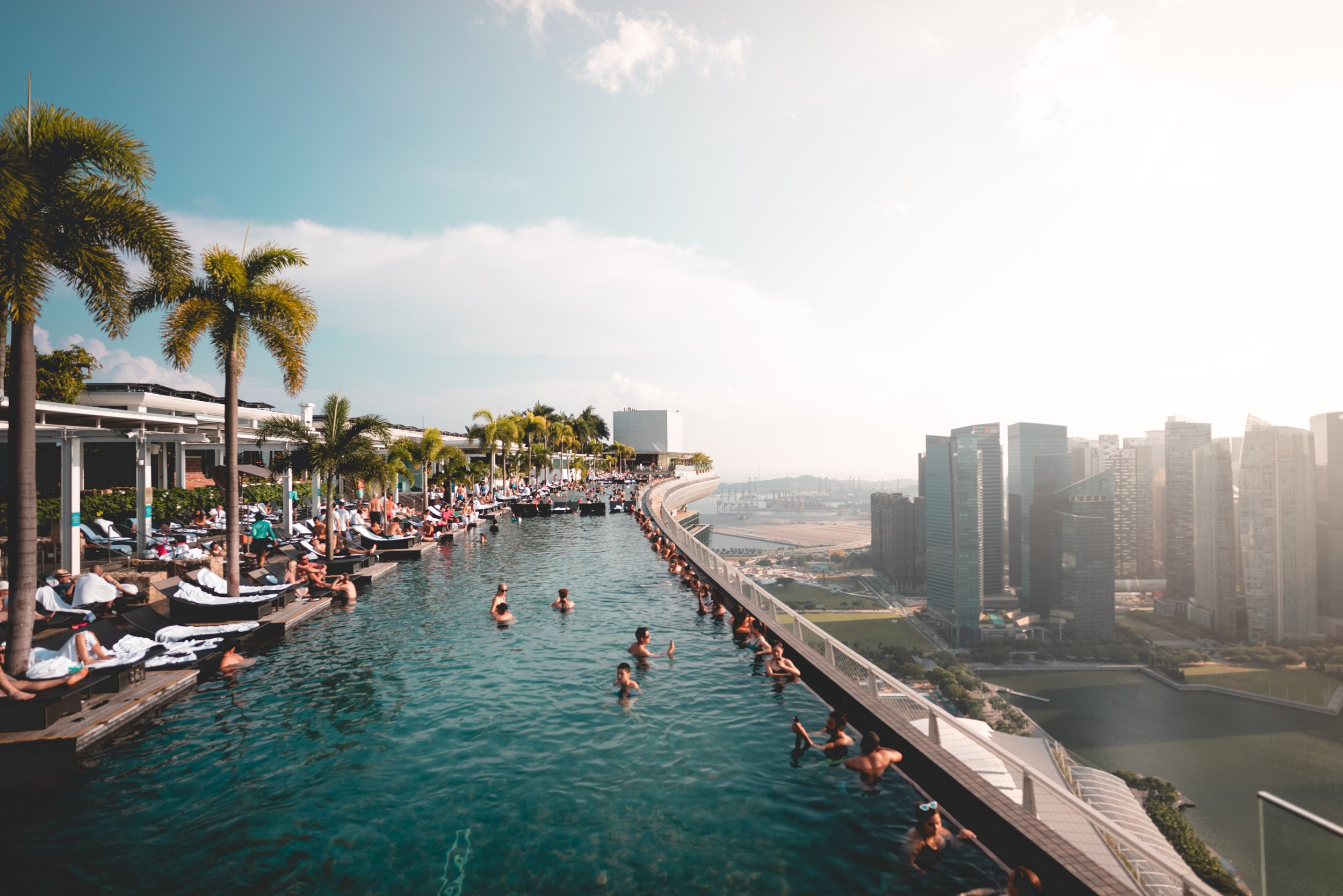 Rooftop Pool, Marina Bay Sands Hotel, Singapore