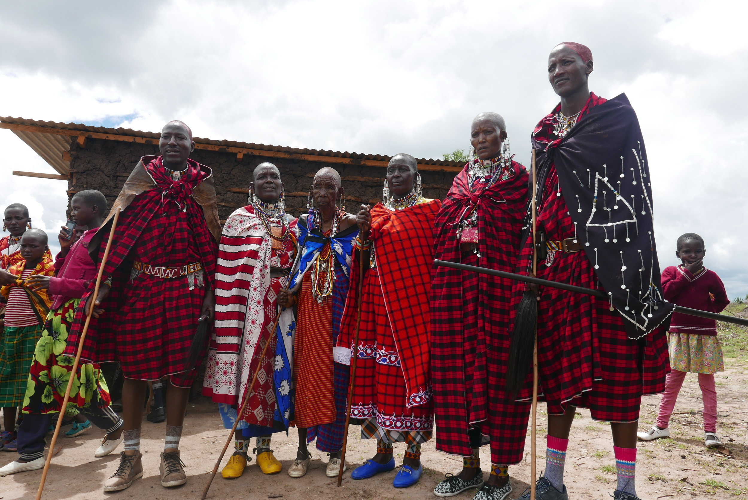 A photo from the wedding day of one of our village staff beekeepers - Francis Kirando (far right).