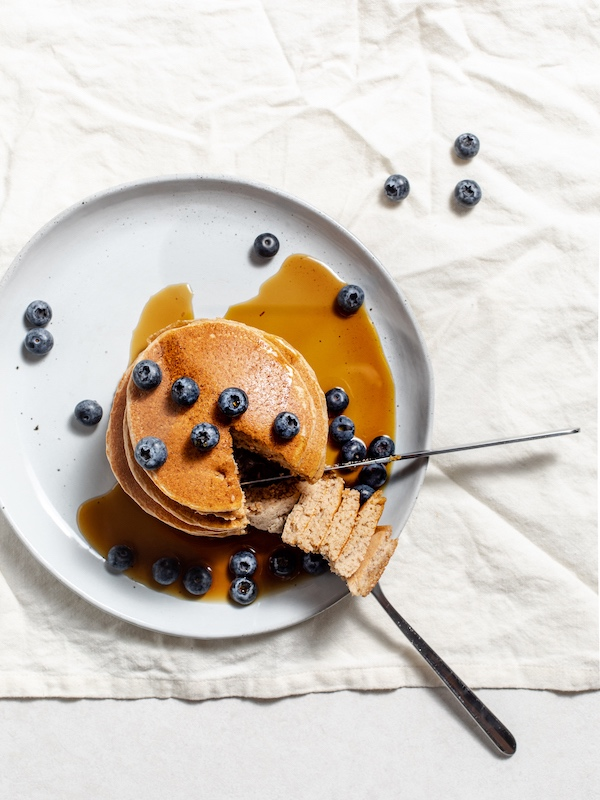 Oat, Banana and Blueberry Pancakes