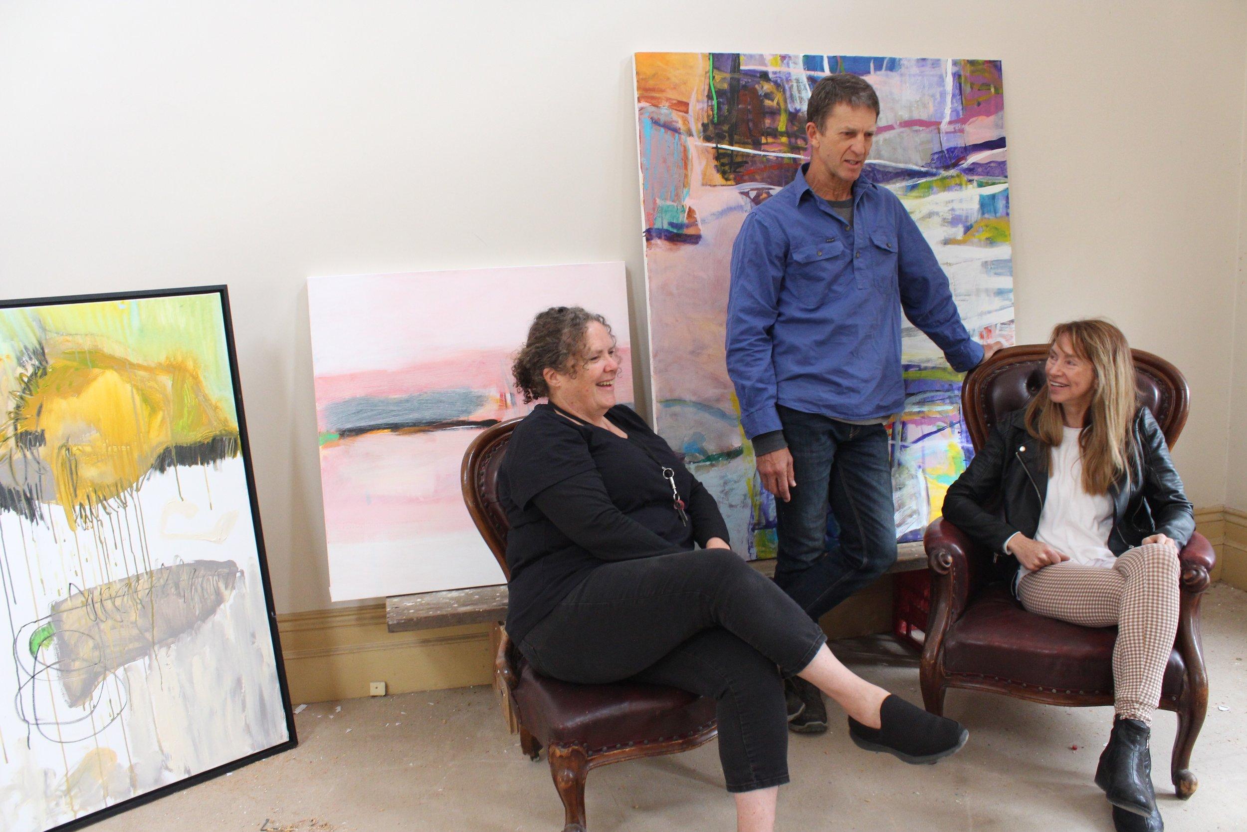 Artists Tarli Glover, Steve Sedgewick and Margie Delahunty-Spencer