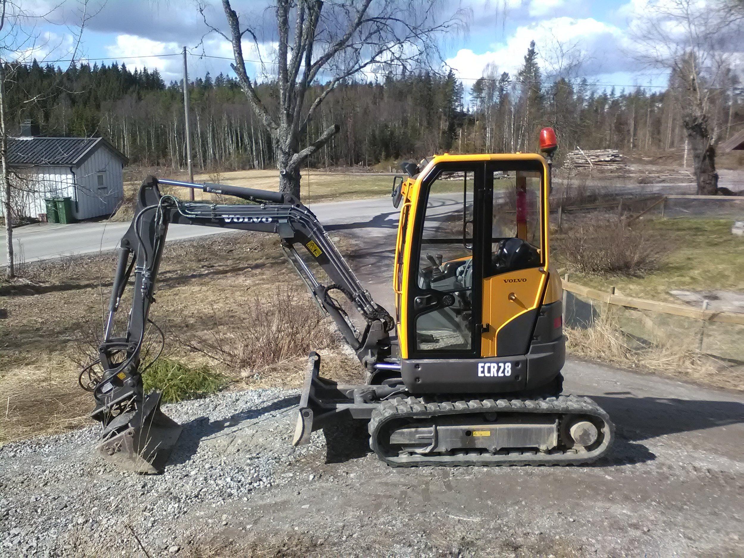 Minigraver - Volvo ECR28 2.8 Tonns MinigraverNår du trenger et hull, en grøft, eller hva som helst du ikke har lyst til å gjøre med spaden…