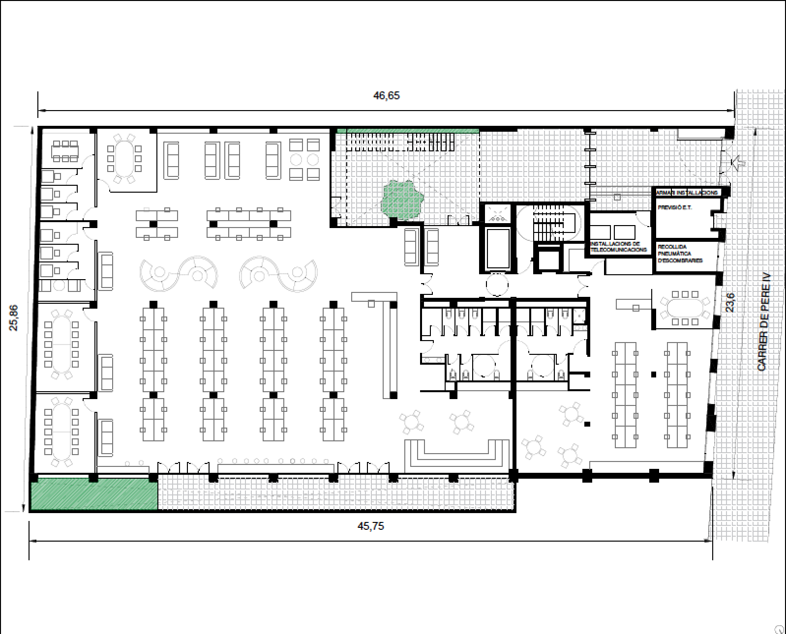 Multi tenantLow density - Approx 290 workstations(Max building occupancy 710 people)