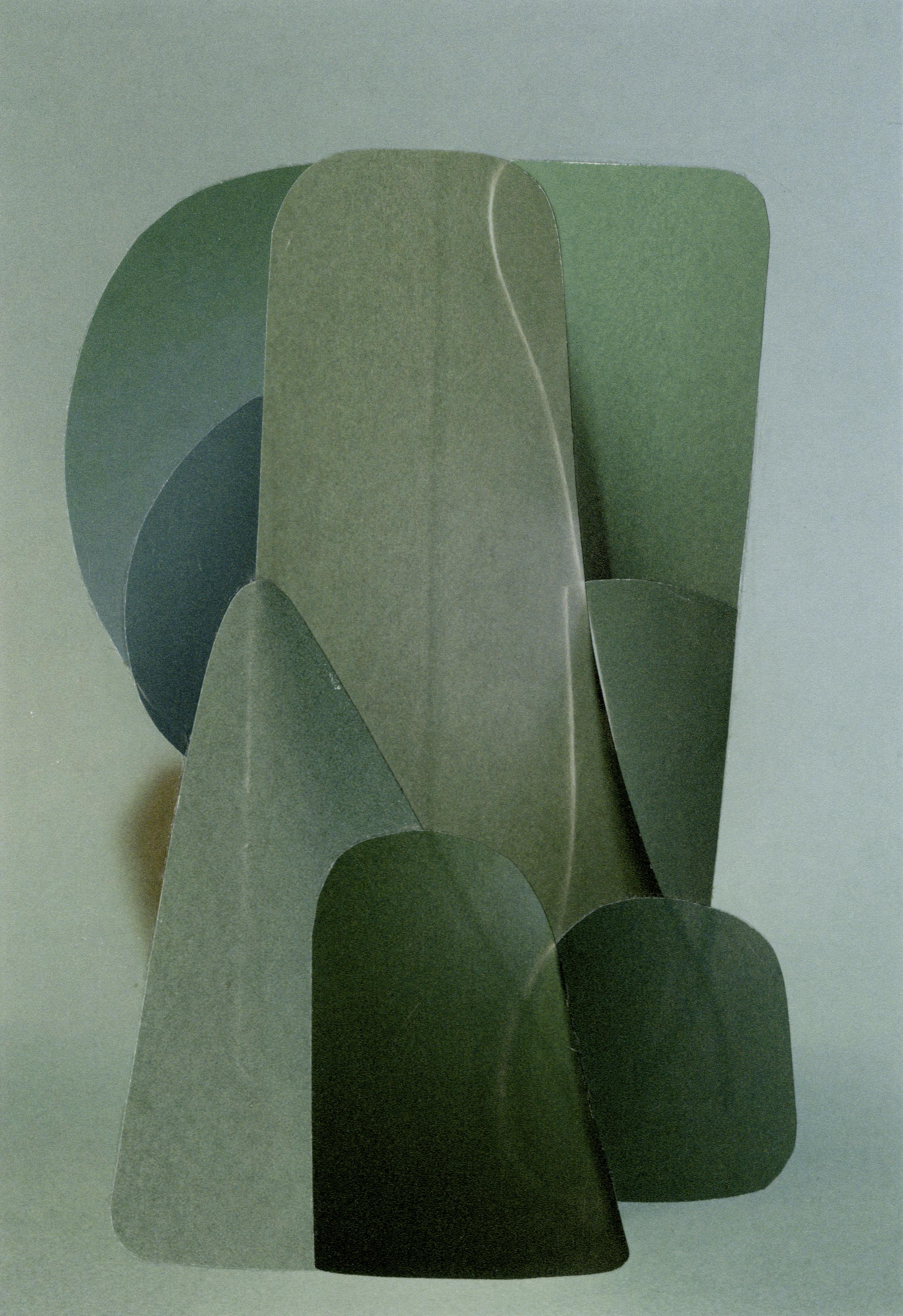 Mirror Image #18, Flatland Series, Collage (c) Hannah Hughes