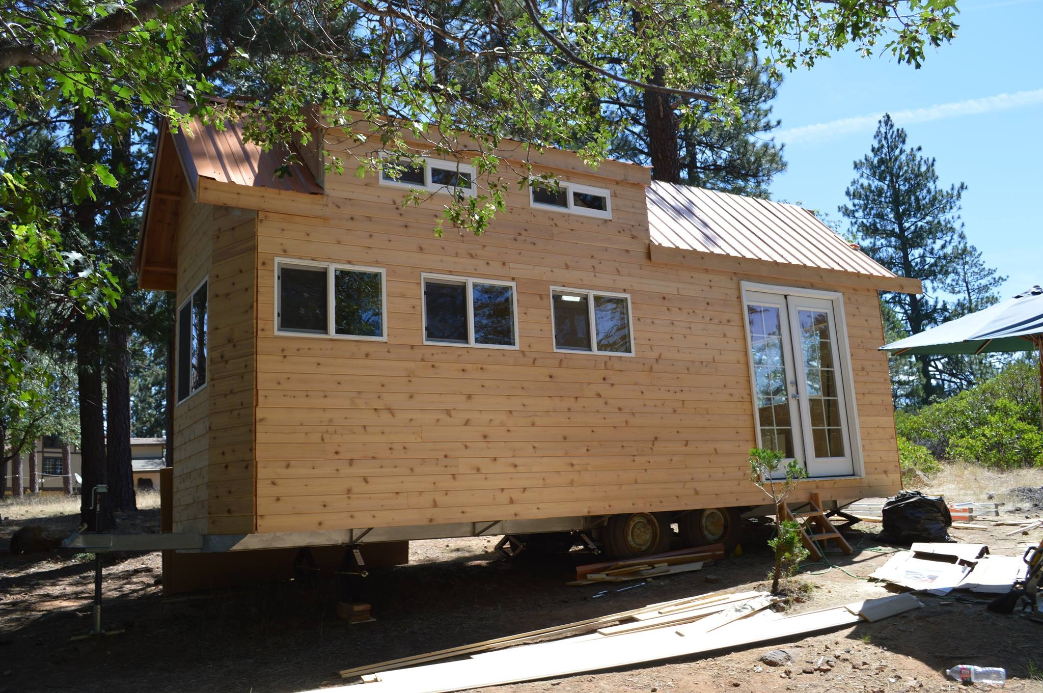 Louis first Tiny House build in Northern California (2014)