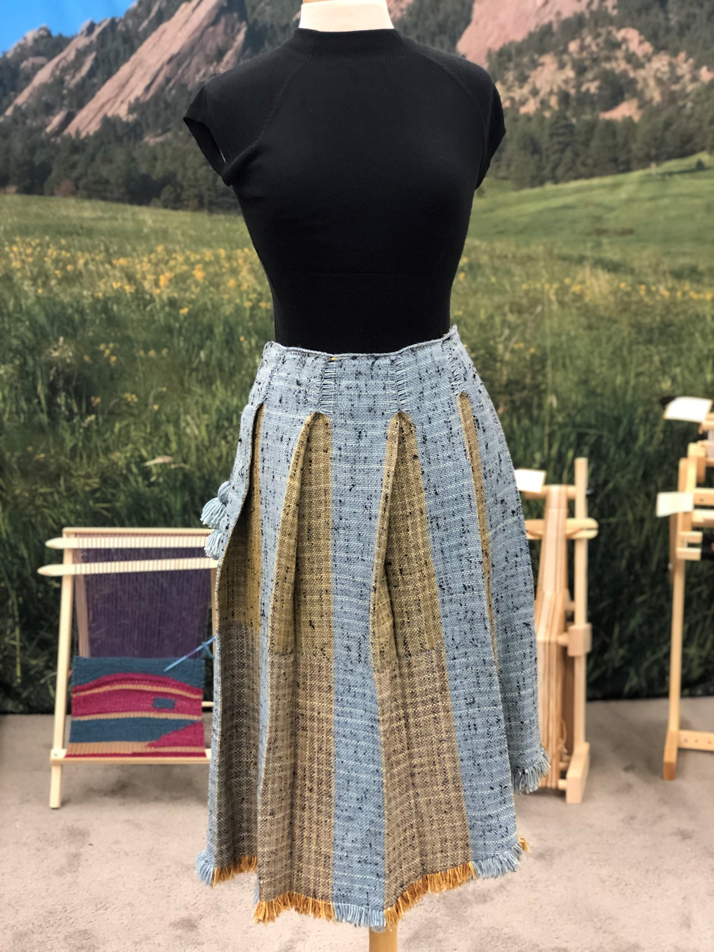 blue and gold pleated Skirt.jpg