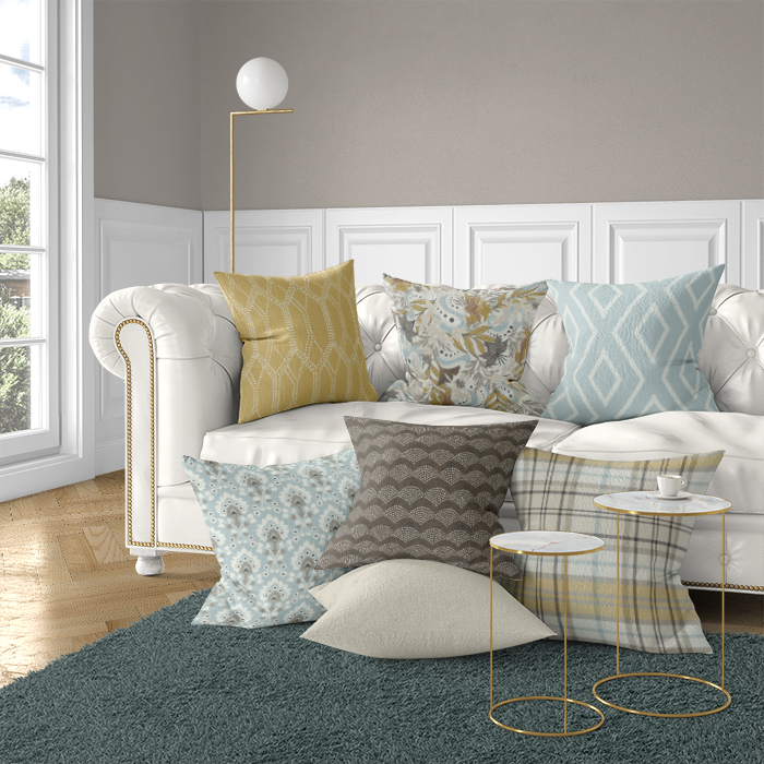 A big concern of some clients was the amount of selections, too much to choose from! I collaborated with the Design Team to create ready-to-buy curated collections in various color ways to help clients take the first step to customizing.