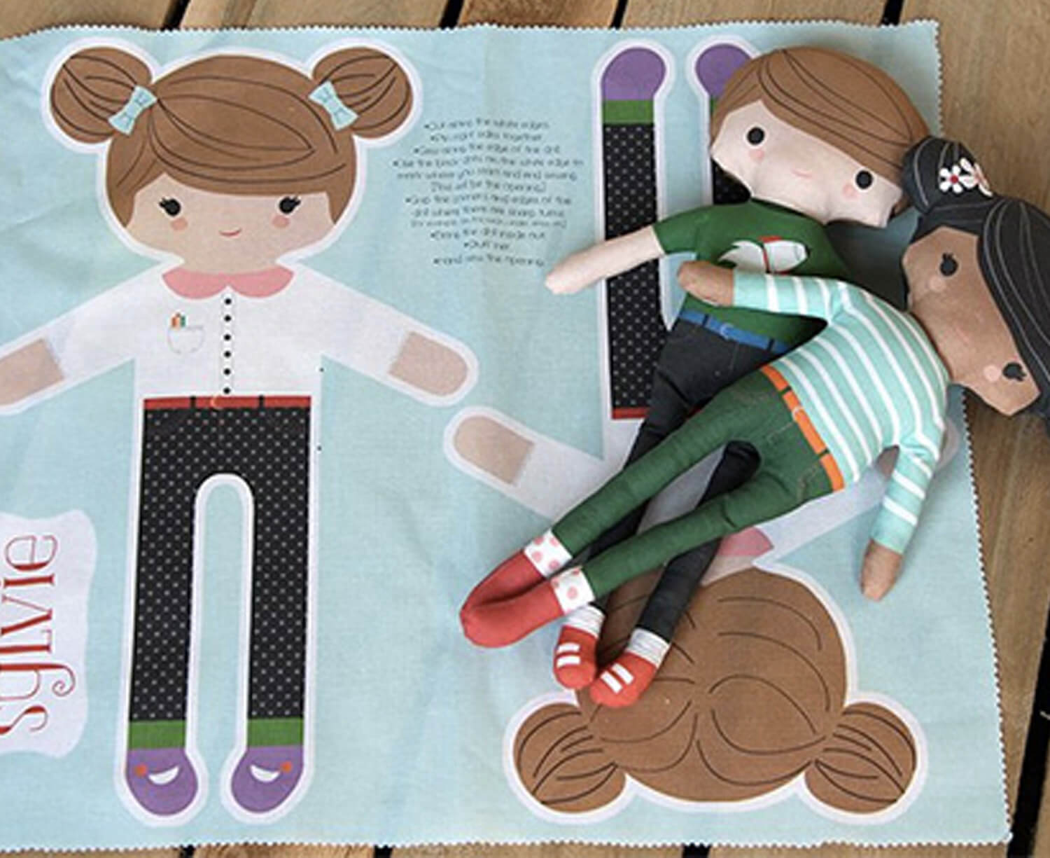 BLOG POST FOR SPOONFLOWER: DIY: CUSTOMIZE YOUR OWN CUT AND SEWDOLL