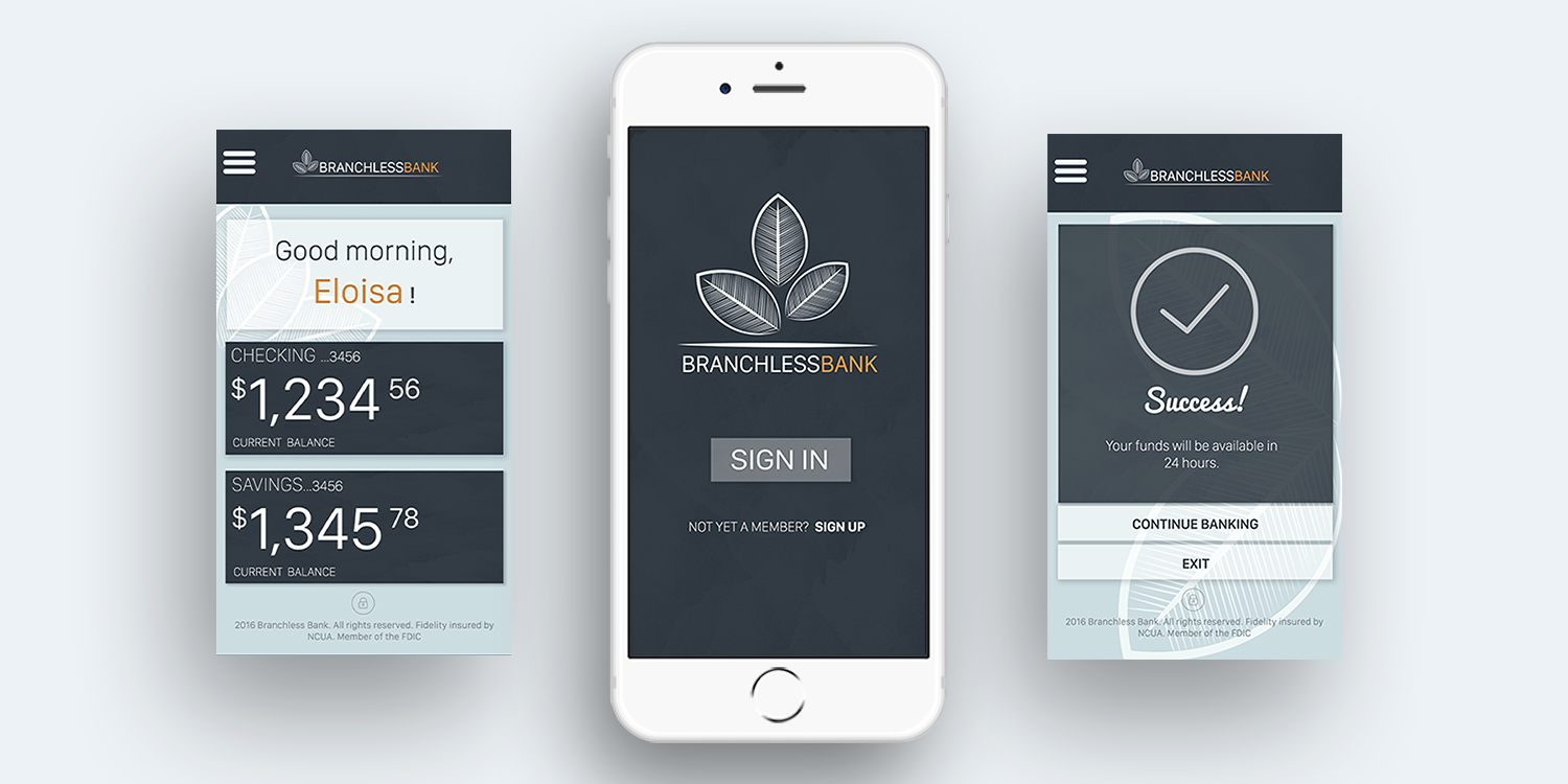 Prototype Project:  Branchless Bank