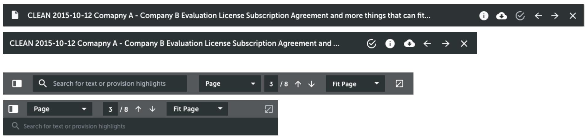 Responsive toolbars.