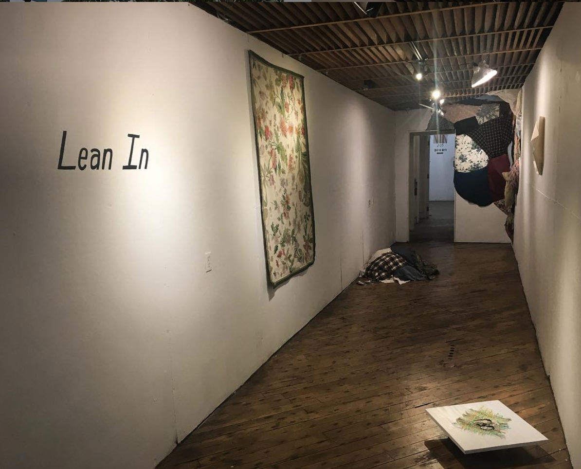 Installation view of Lean In // Textures of a Female Landscape by Claire Beauchamp