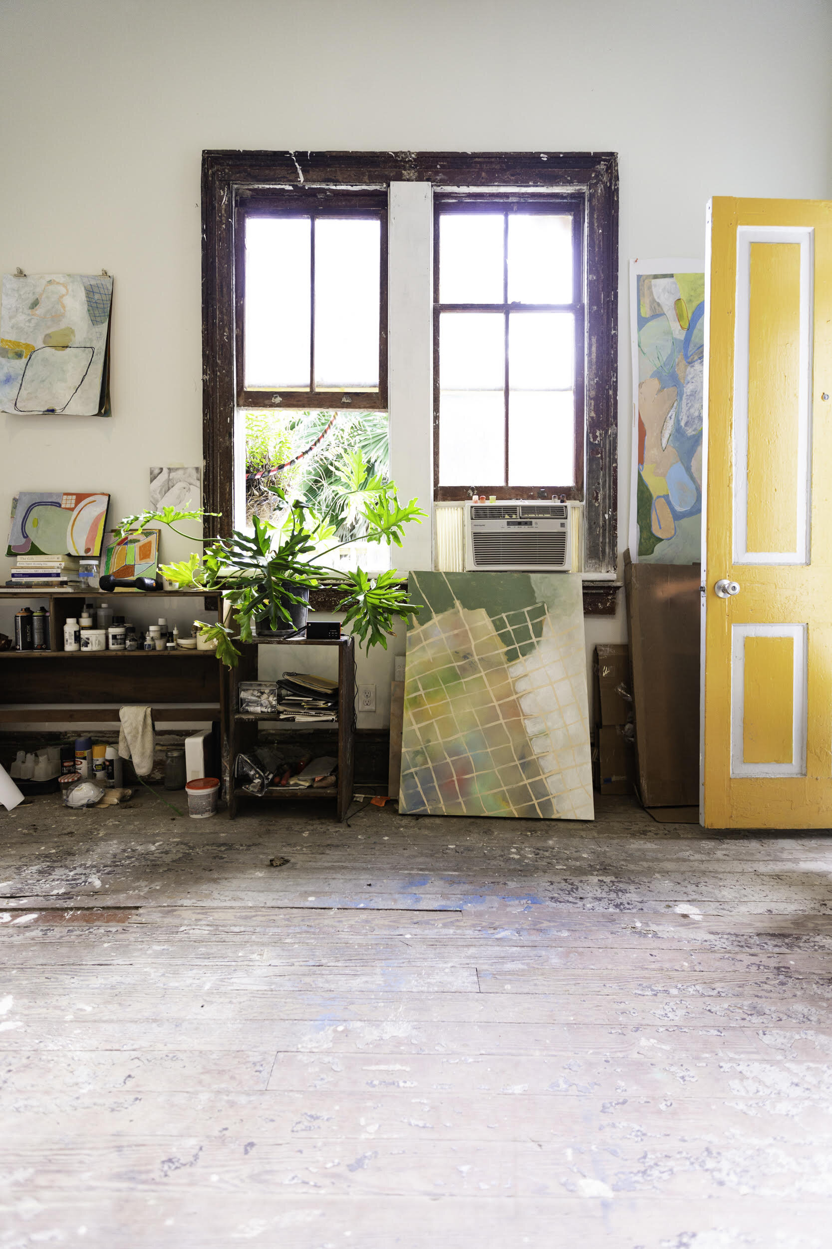Walls's studio at Aquarium Gallery in the Bywater neighborhood of New Orleans