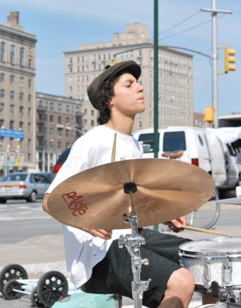 Pablo playing drums