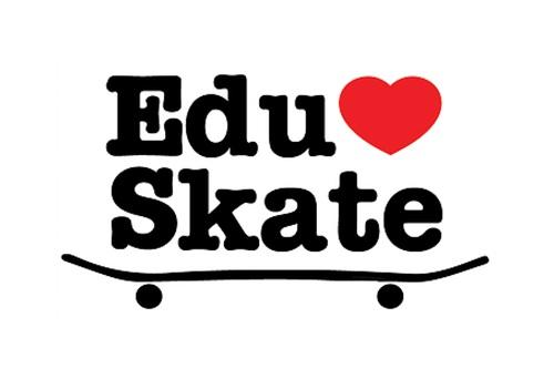 EduSkate+Logo+Skateboard+with+Heart