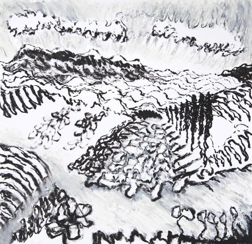 "Olana, 19,  Oil pastel on paper, 14"" x 15"", 2016"