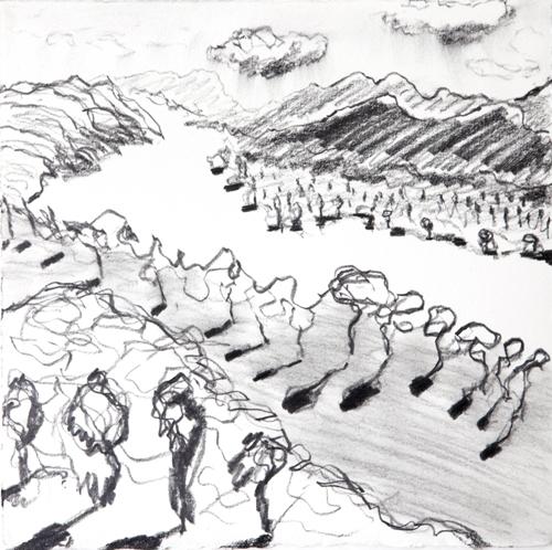 "Olana, 23, Graphite on paper, 12"" x 12"", 2016"