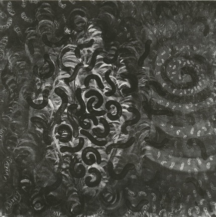 """Vermin ,  40"""" x 40"""", Charcoal on Paper, 1996"""