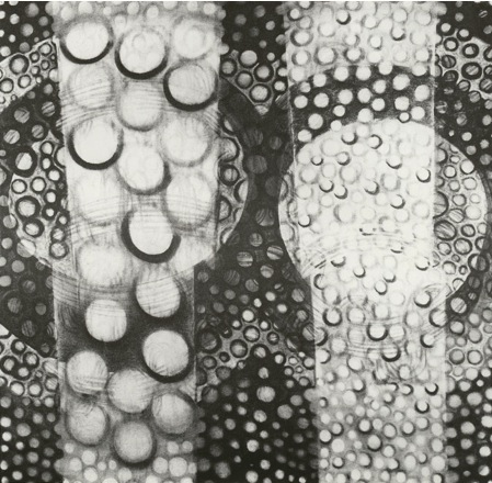 """Boils ,  40"""" x 45"""", Charcoal on Paper, 1996"""
