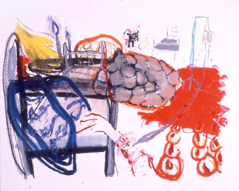 "Convalescence,   30"" x 40"", Oilstick on Paper"