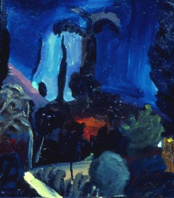 "L.A. Night,   12"" x 16"", Oil on Canvas"