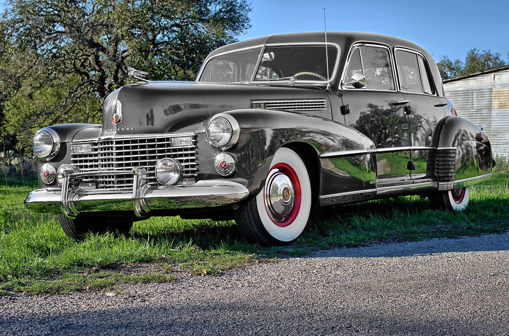 This car embodies the elegance and luxury of times past.