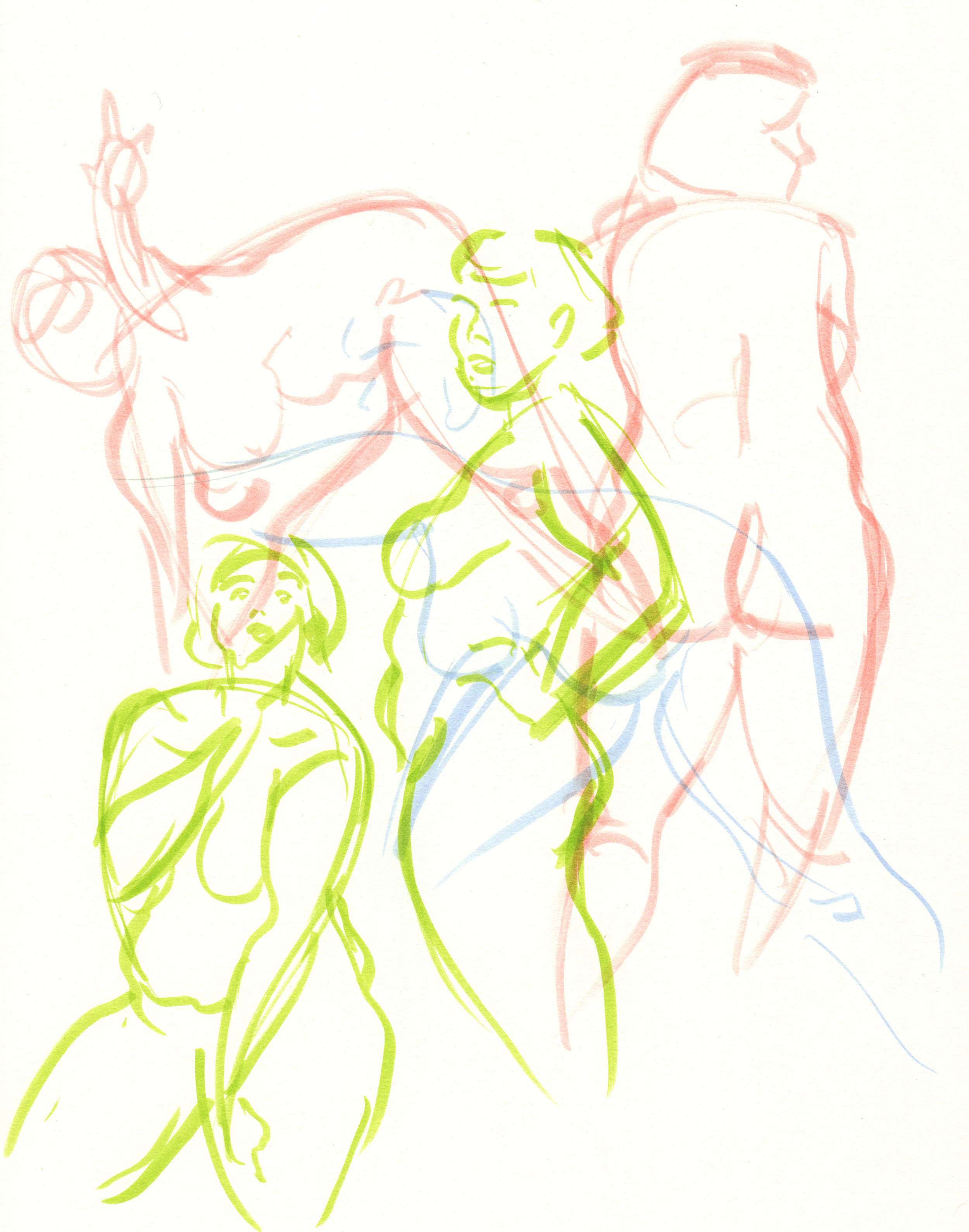 Figure drawing, 1 minute poses, 2019
