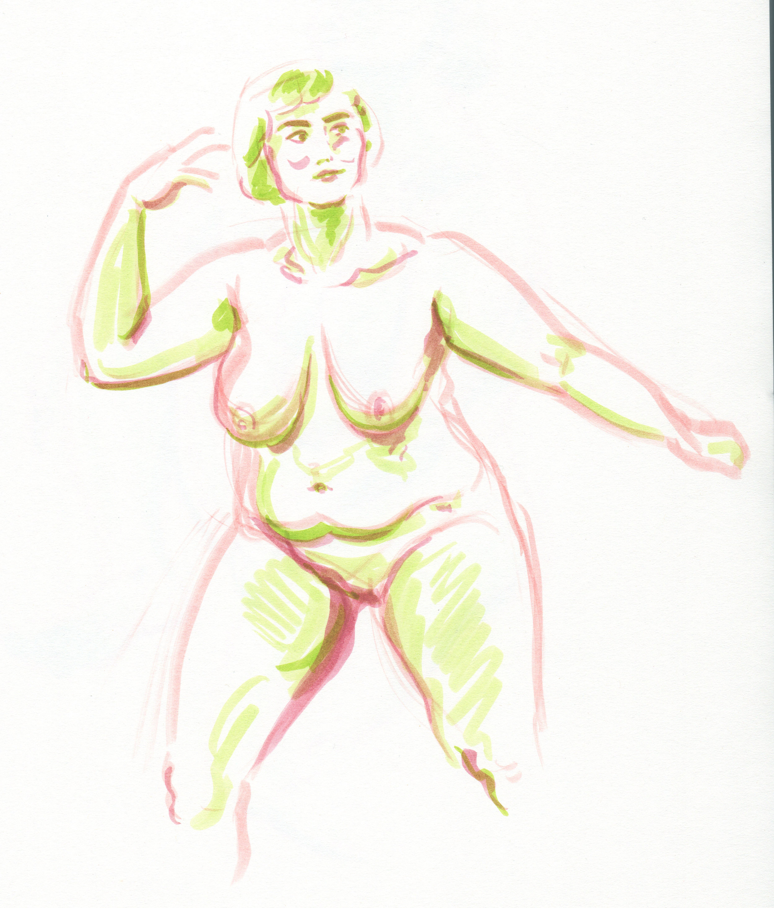 Figure drawing, 10 minute pose, 2019