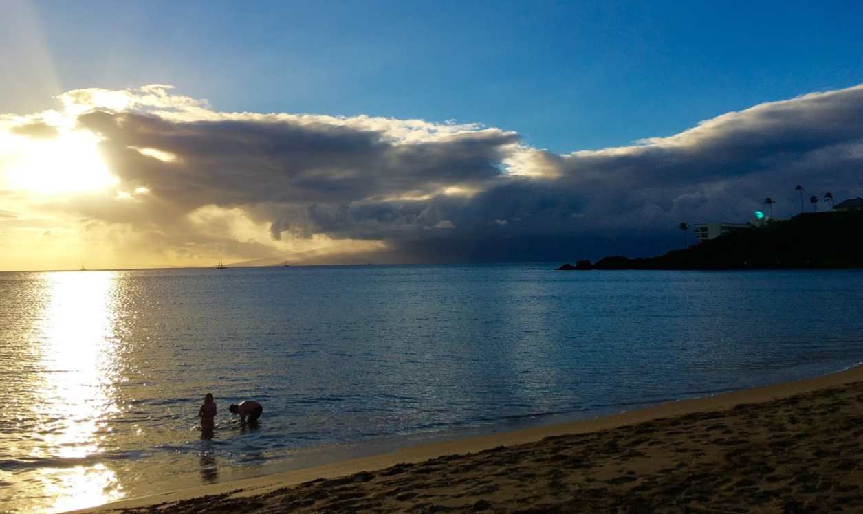 View from Kaanapali Beach