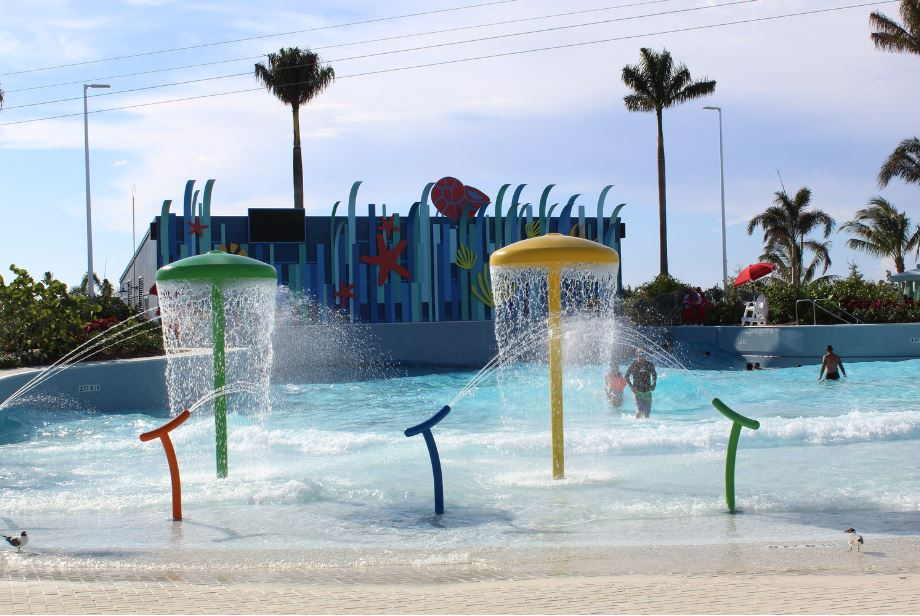 Surfs up! Catch a wave in the largest wave pool in the Caribbean. It is the perfect place for all ages to cool off and have some fun!