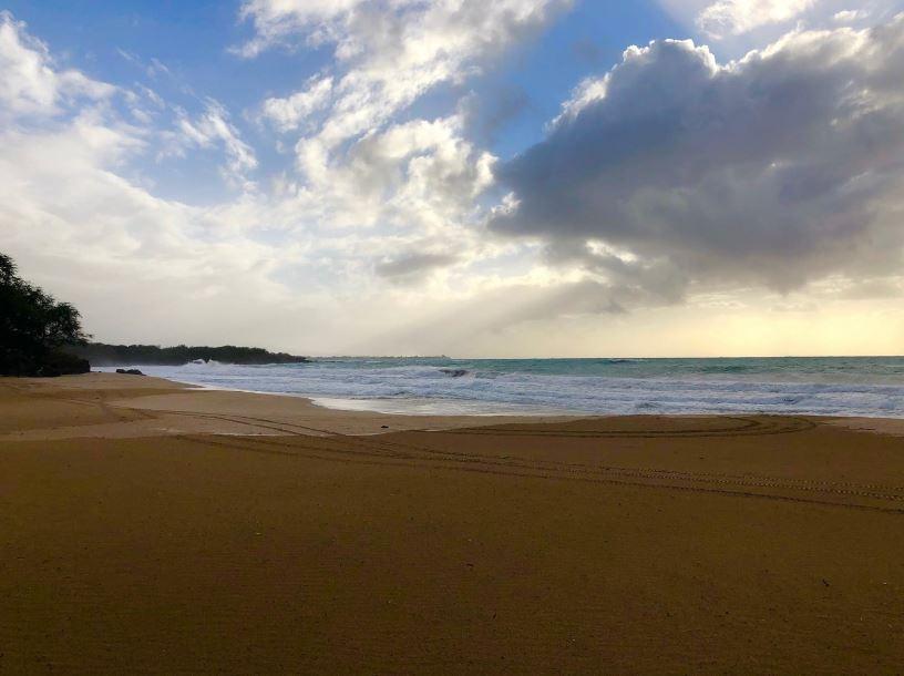 Hapuna Beach during a tropical storm