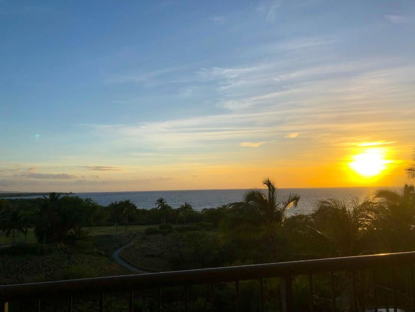 Sunset views from the balcony