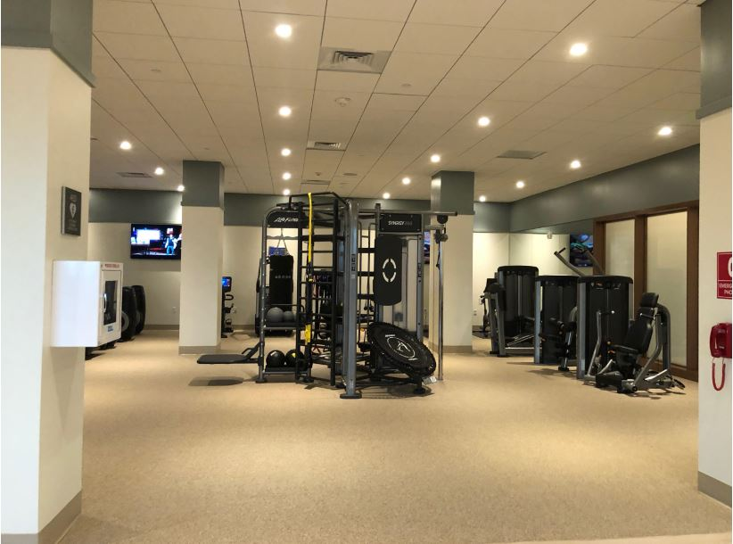 The machines and cardio equipment available at Westin Hapuna Beach
