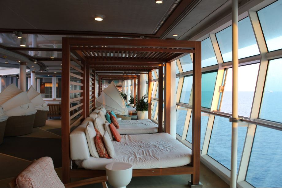 For some rest and relaxation check out the adult section of the ship. This is the ideal spot to hunker down and wait for your stateroom to be available.