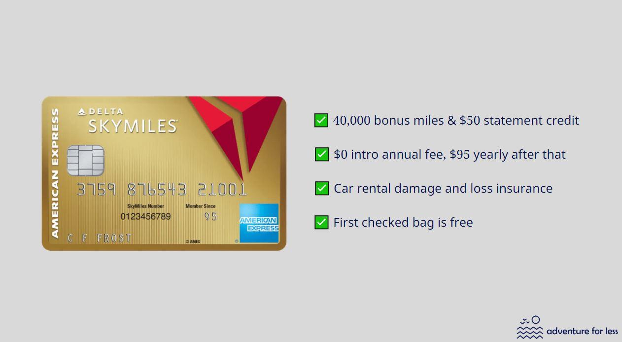 delta skymiles card info