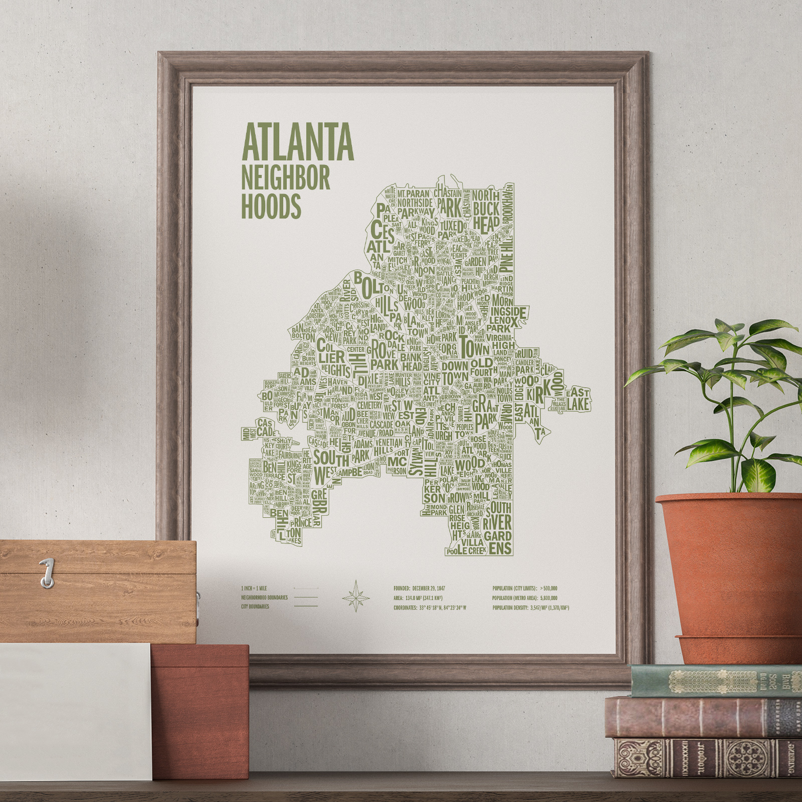 Atlanta Neighborhoods Screen Prints -