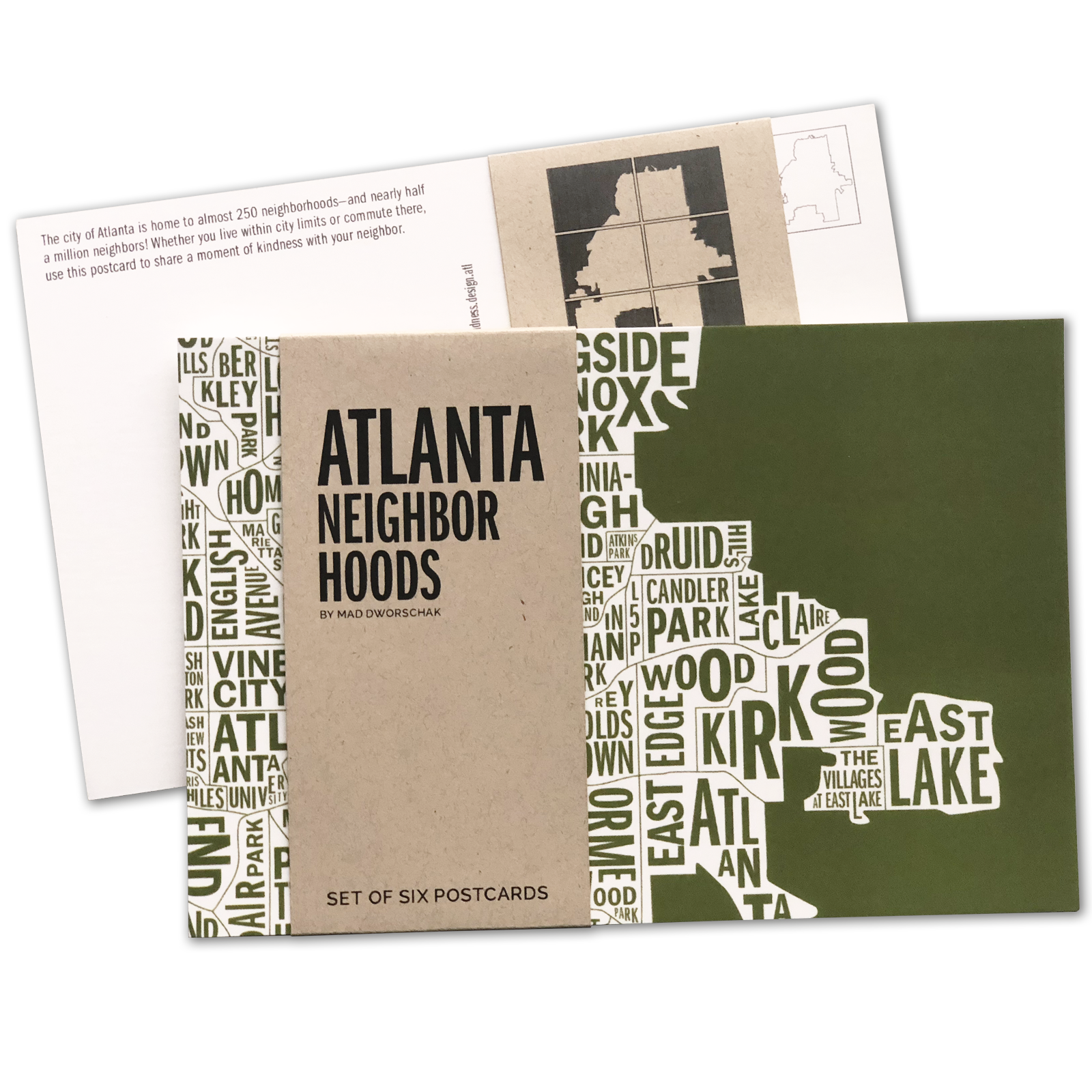 Atlanta Postcards Packs -