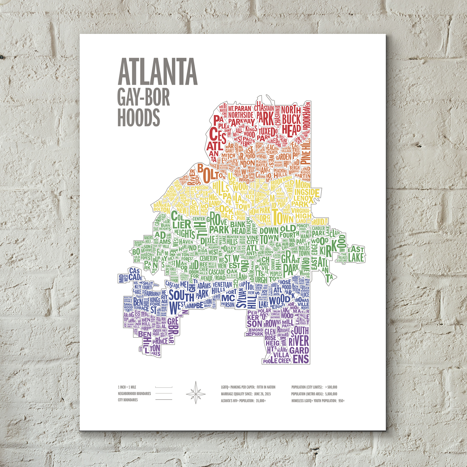 Atlanta Gayborhoods Screen Prints -