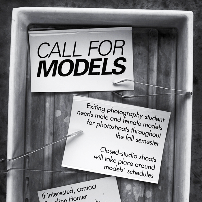 Call for Models Flyer -