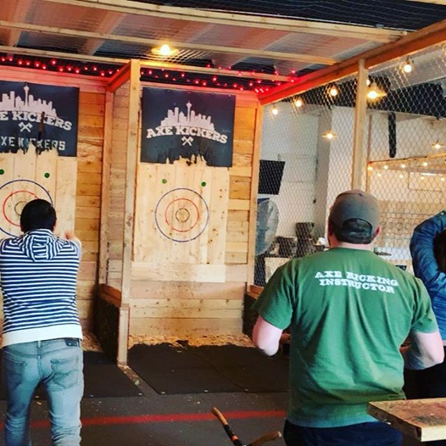 Teams that throw axes together, stay together.
