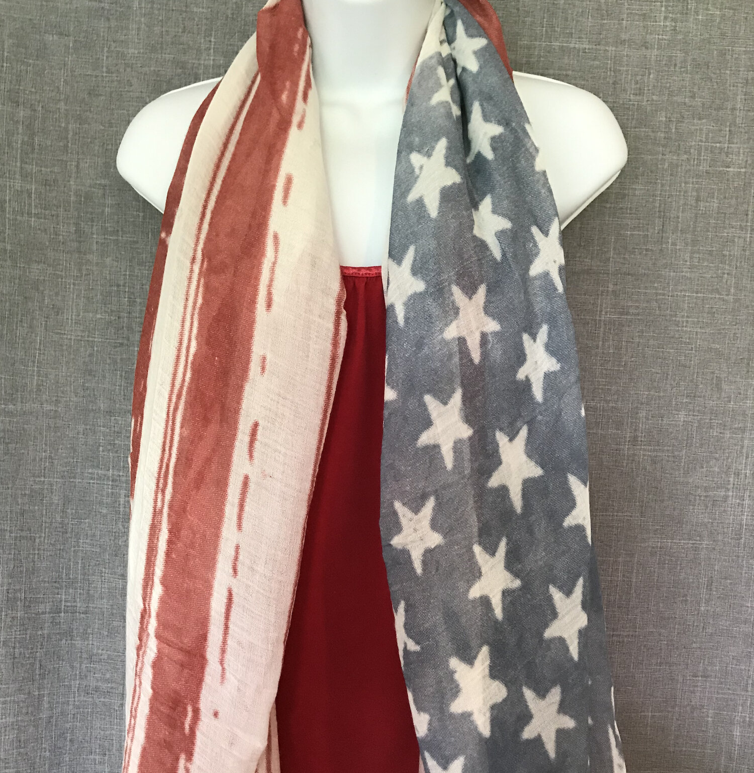 Many designs of Patriotic Scarves