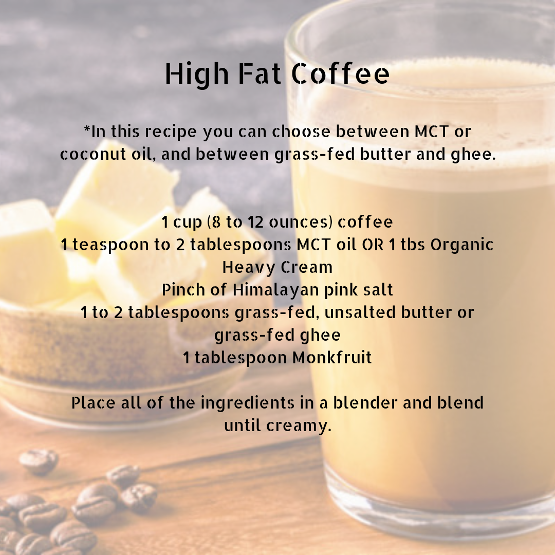 _In this recipe you can choose between MCT or coconut oil, and between grass-fed butter and ghee. 1 cup (8 to 12 ounces) coffee 1 teaspoon to 2 tablespoons MCT oil or coconut oil Pinch of Himalayan pink salt 1 to 2 t.png
