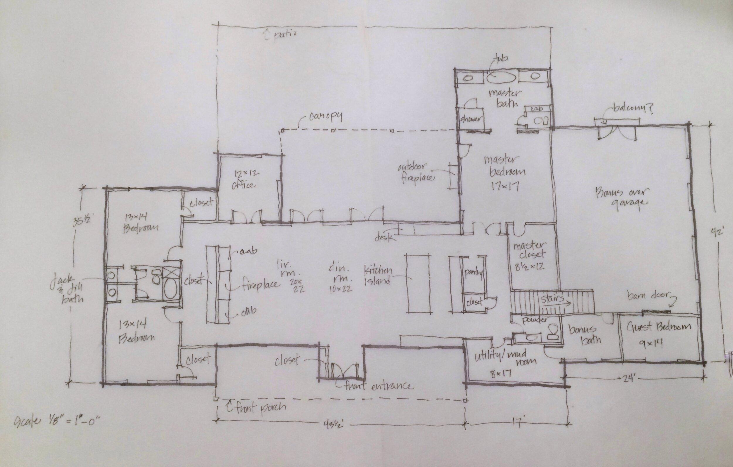 The Modern Farmhouse Floor Plan Kg Designs