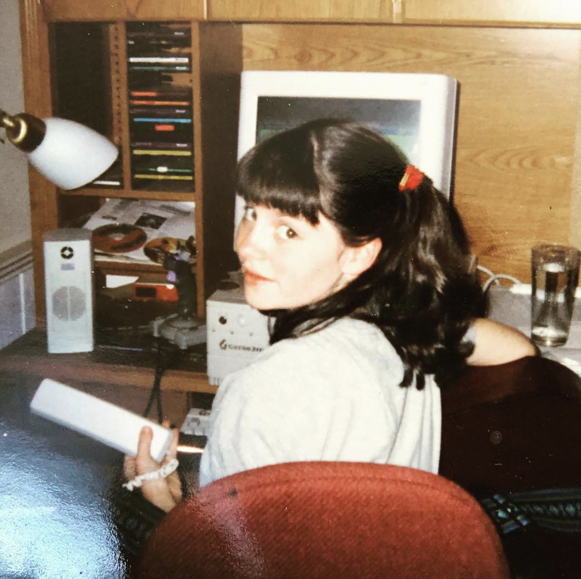 We regret that we cannot be reached by AIM buddy chat, but call and leave us your best late 90s/early 00s away message. - Co-host Mary circa 2000 (She apologizes for the bangs)